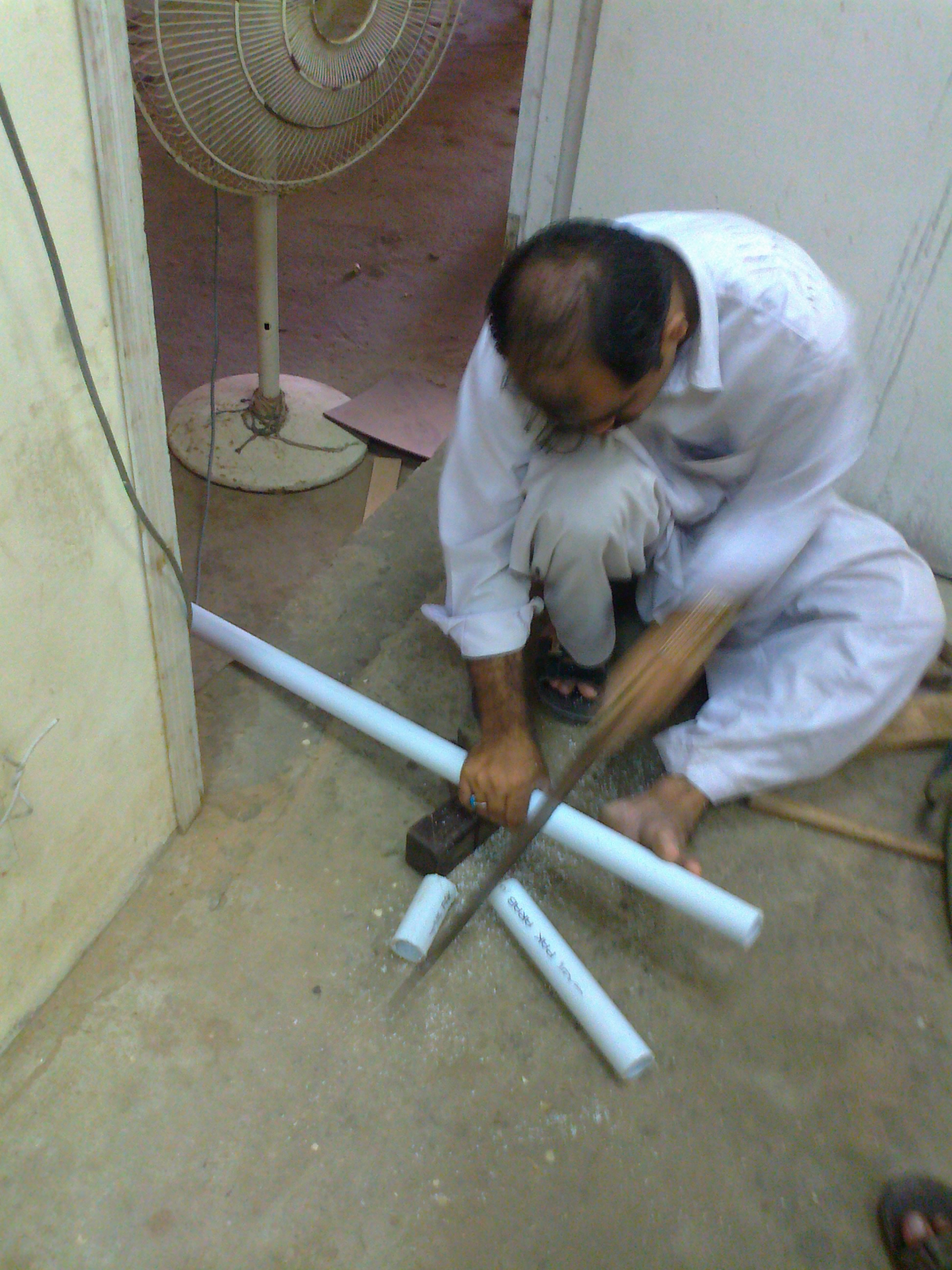 Picture of Cutting the Pipes