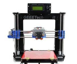 Assemble Instruction of Geeetech Acrylic Prusa I3 Pro C
