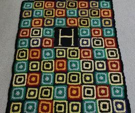 Hogwarts House Crochet Quilt