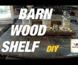 LED Barn Wood Shelf