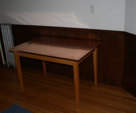 Put a copper top on a table