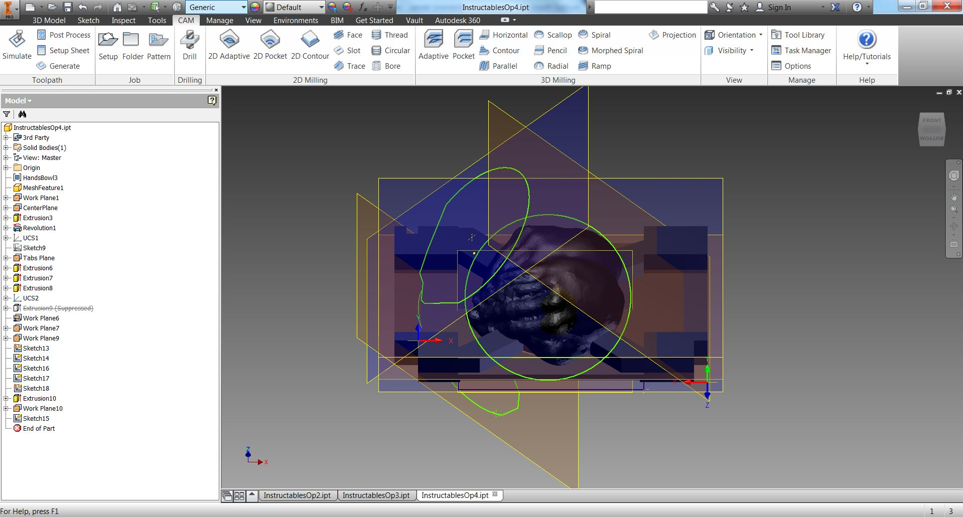 Picture of Prepare the Model for 3+2 Machining