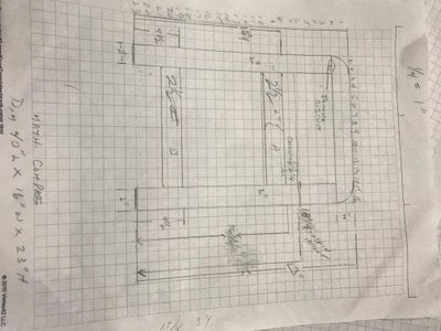 Drawings of the Entryway Bench