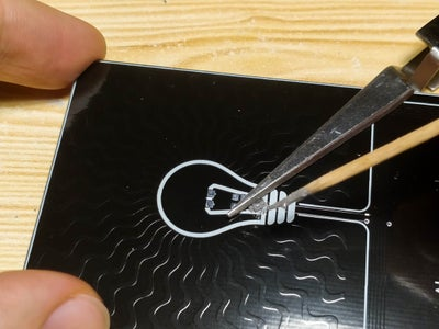 Soldering the NFC Chip