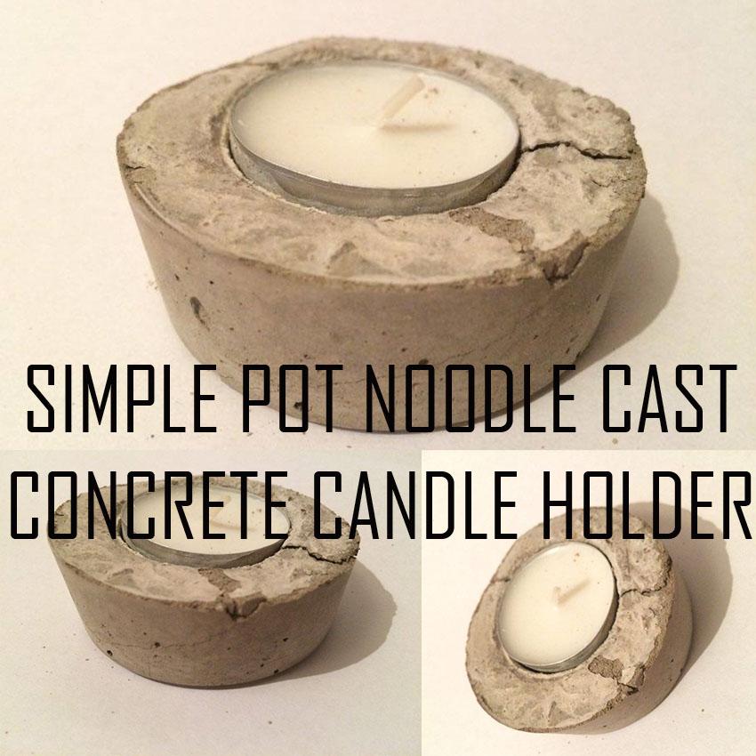 Picture of Pot Noodle Cast Concrete Candle Holder