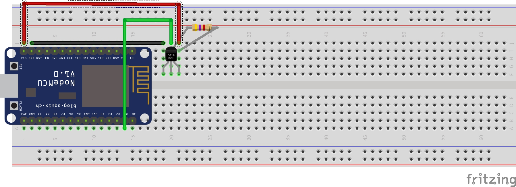 Picture of Build a Temperature Sensor Using an ESP8266 and DS18b20 - Output to Serial
