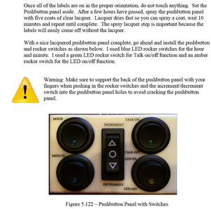 Install Devices on Pushbutton Panel