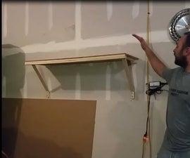 Cheapest Sturdy Garage Wall Shelf Over 300lb Capacity