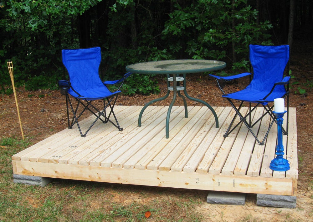 Simple Floating Deck