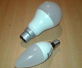 220v Led Light Bulb on Battery