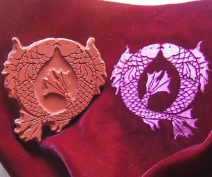 Emboss Velvet with Rubber Stamps and a Household Iron