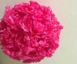 Creating a Tissue Paper Flower Centerpiece