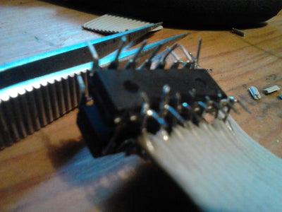 Solder Up Wires to the Chip Output Pins.