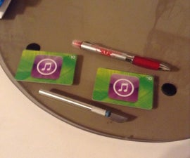 Credit Card Ipod Stand