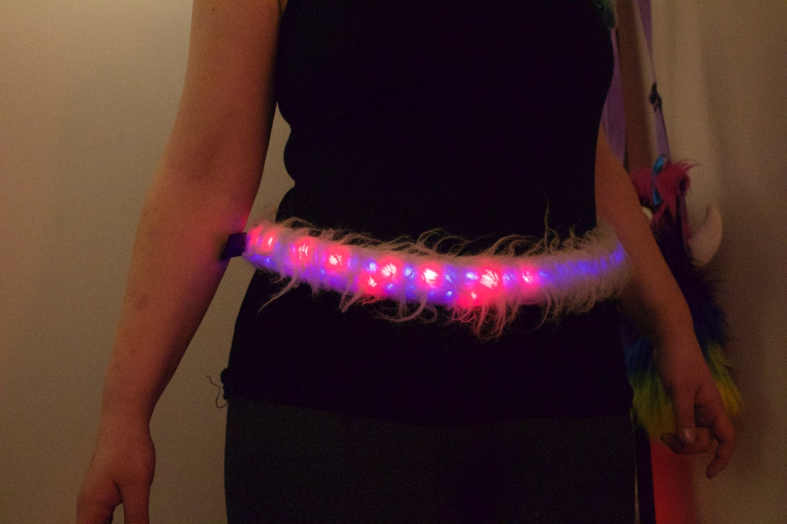 Picture of Interactive Fuzzy LED Belt