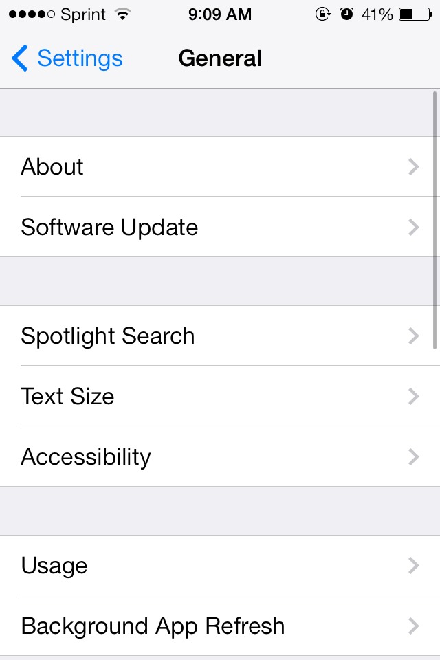 Picture of Go to Settings