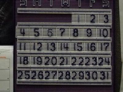 (6) Perpetual Calendar DaKine Plastic