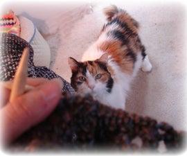Feline knitting inspector!