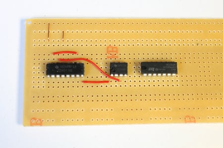 Adding the Connectors on the 4017 IC