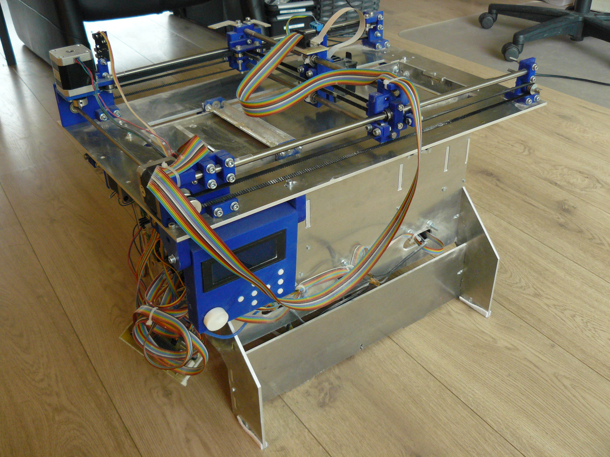 Picture of Plan B, an Open Source 3DP (powder and Inkjet) 3D Printer