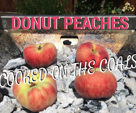 Donut Peaches - Cooked on the Coals