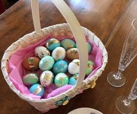 Gold Leaf Easter / Spring Eggs