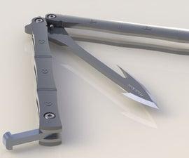 Handy Foldable Whale Knife weapon + trekking tool
