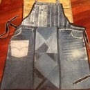 Apron From Recycled Denim Pants