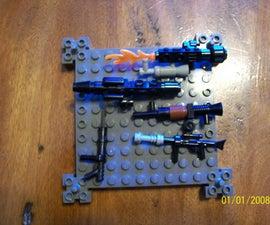 Collection of Lego Guns