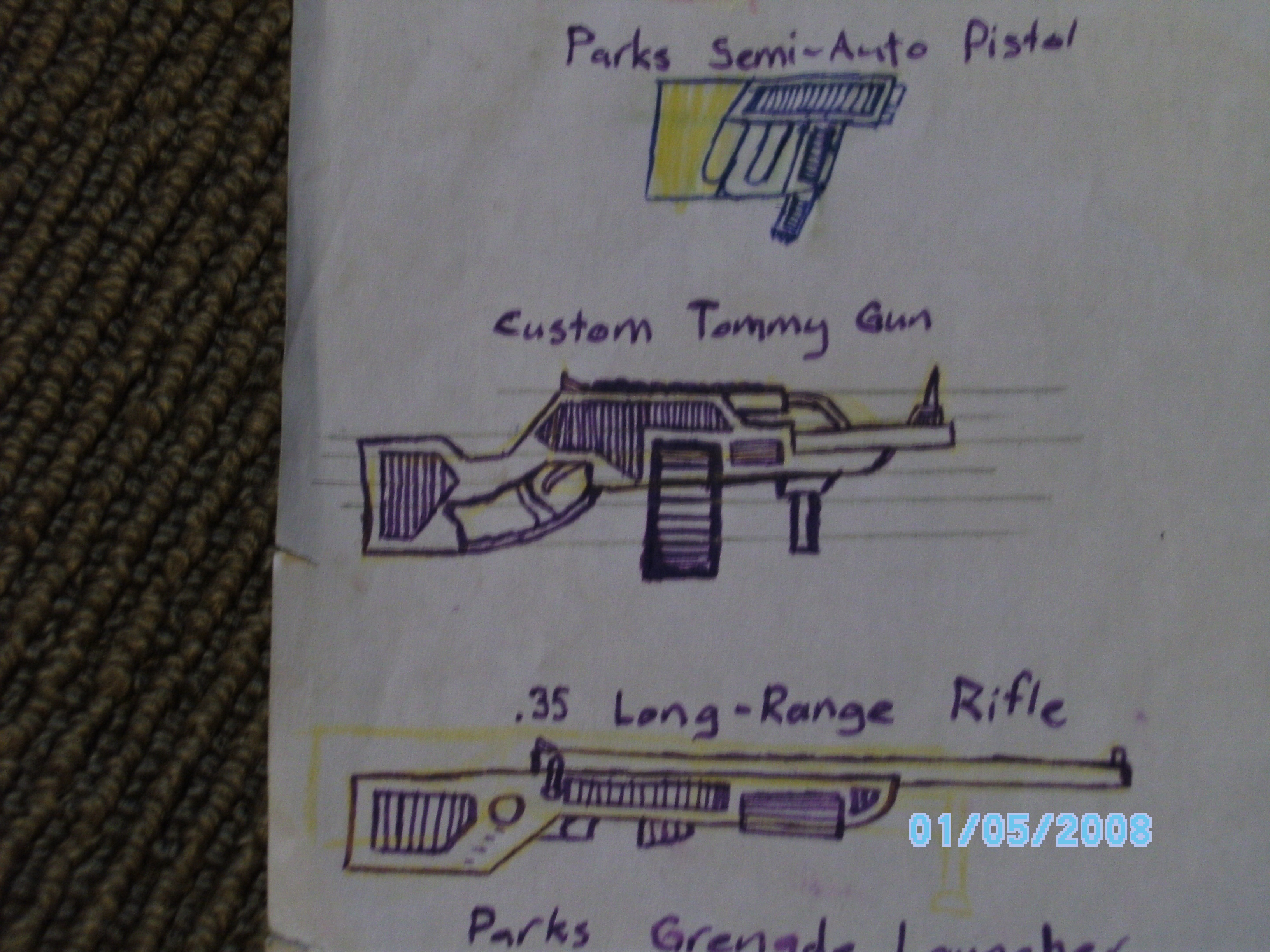 Picture of Custom Tommy Gun (Cardboard) DISCONTINUED Soz