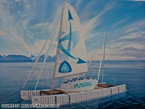 Plastic Bottle Boat Set to Sail Pacific