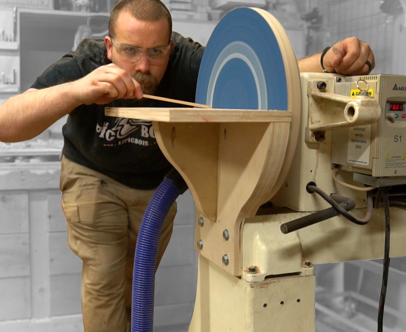"""Picture of Giant Homemade 16"""" Disc Sander (for the Lathe)"""