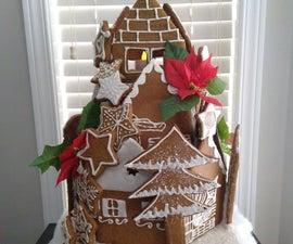 Vegan Gingerbread Village (Upright Style)