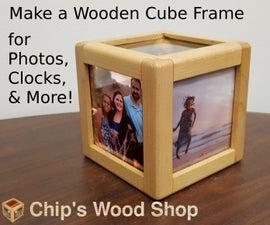 Wooden Cube Frame