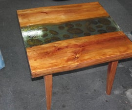 Poured Resin Coffee Table
