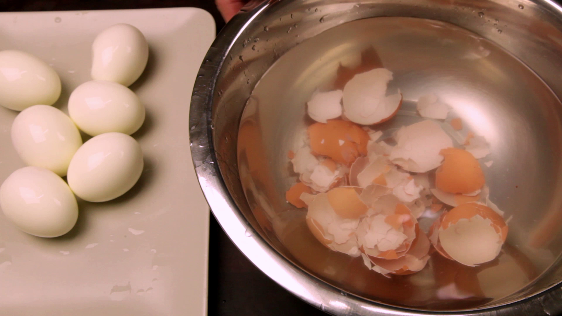 Picture of Crack the Egg Along the The Middle and Peel the Shell From the Egg.