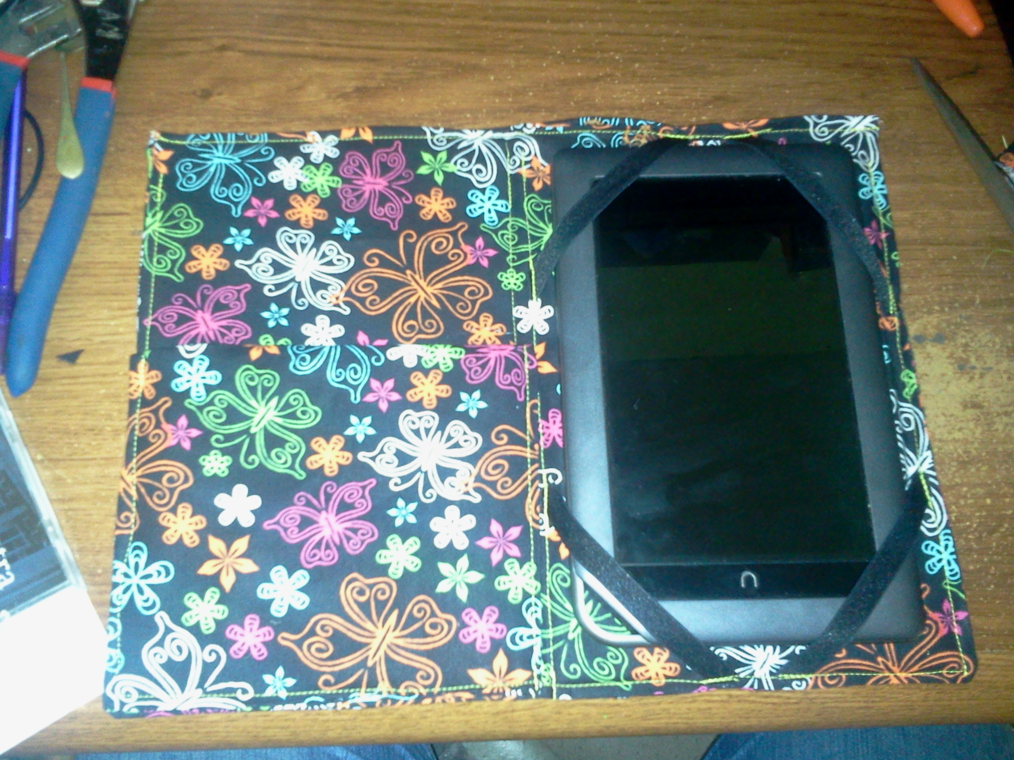 Picture of Homemade E-reader Cover.