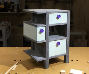 Nightstand W/ Easy Secret Compartment