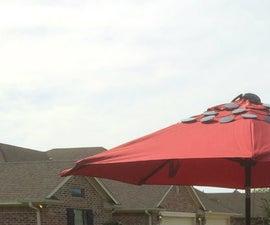DIY Patio Umbrella Solar Charging Station