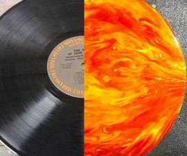 Sun Inspired Resin Art on an LP Record