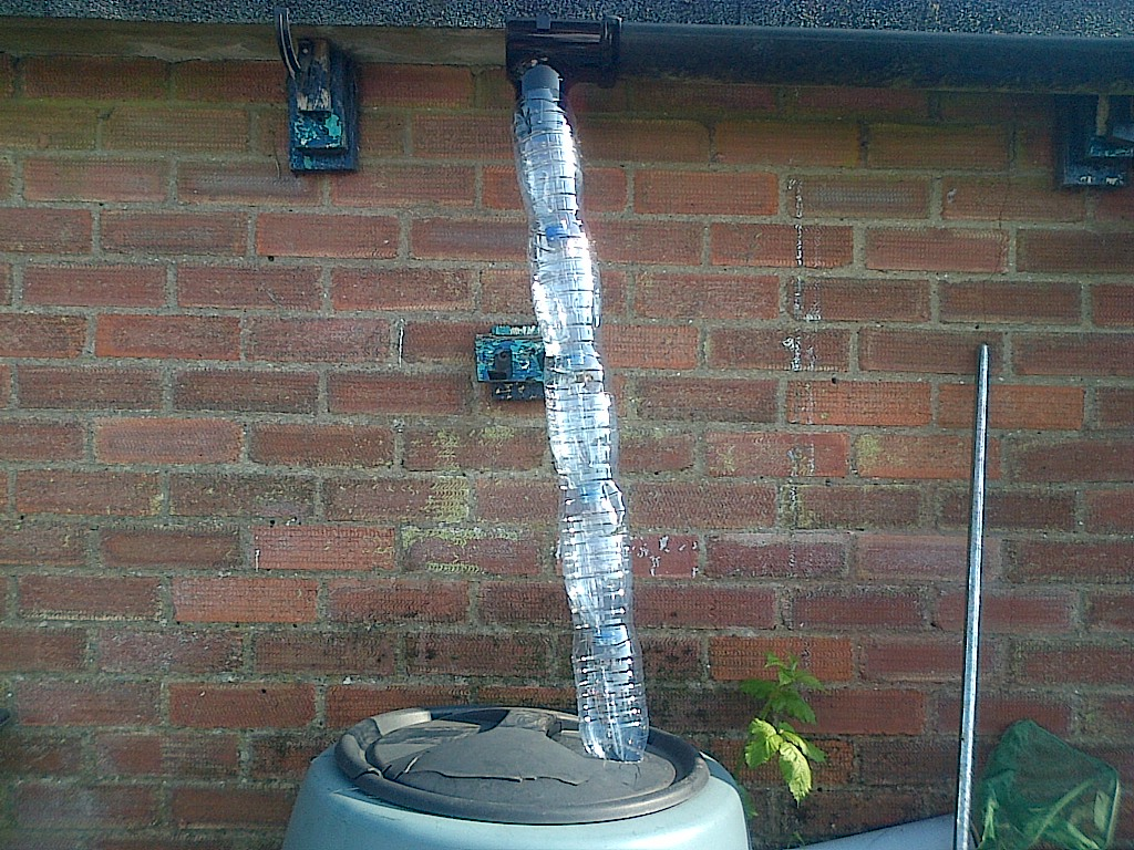 Picture of Plastic Bottle Rainwater Down Pipe With Filter