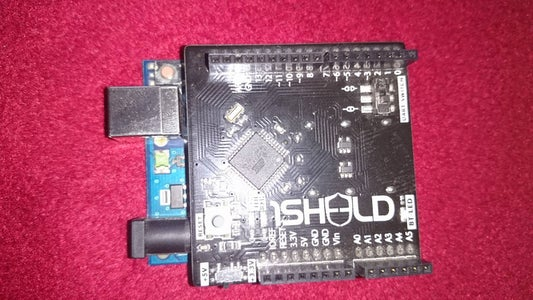 Connect the 1sheild Over the Arduino Board