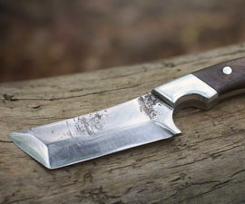 Tanto Knife From Lawn Mower Blade