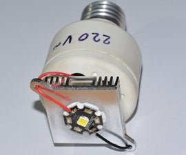 How to make cheap but very powerful LED bulbs