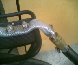 Bicycle Trailer Hitch - Quick Release hose coupling.