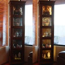 LED Ribbon Lighting for a Curio Cabinet