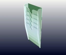 CNC cut Paper Rack