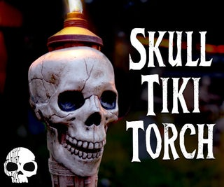 DIY Skull Torches