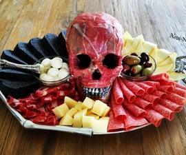 Flayed Human Skull Antipasto Platter