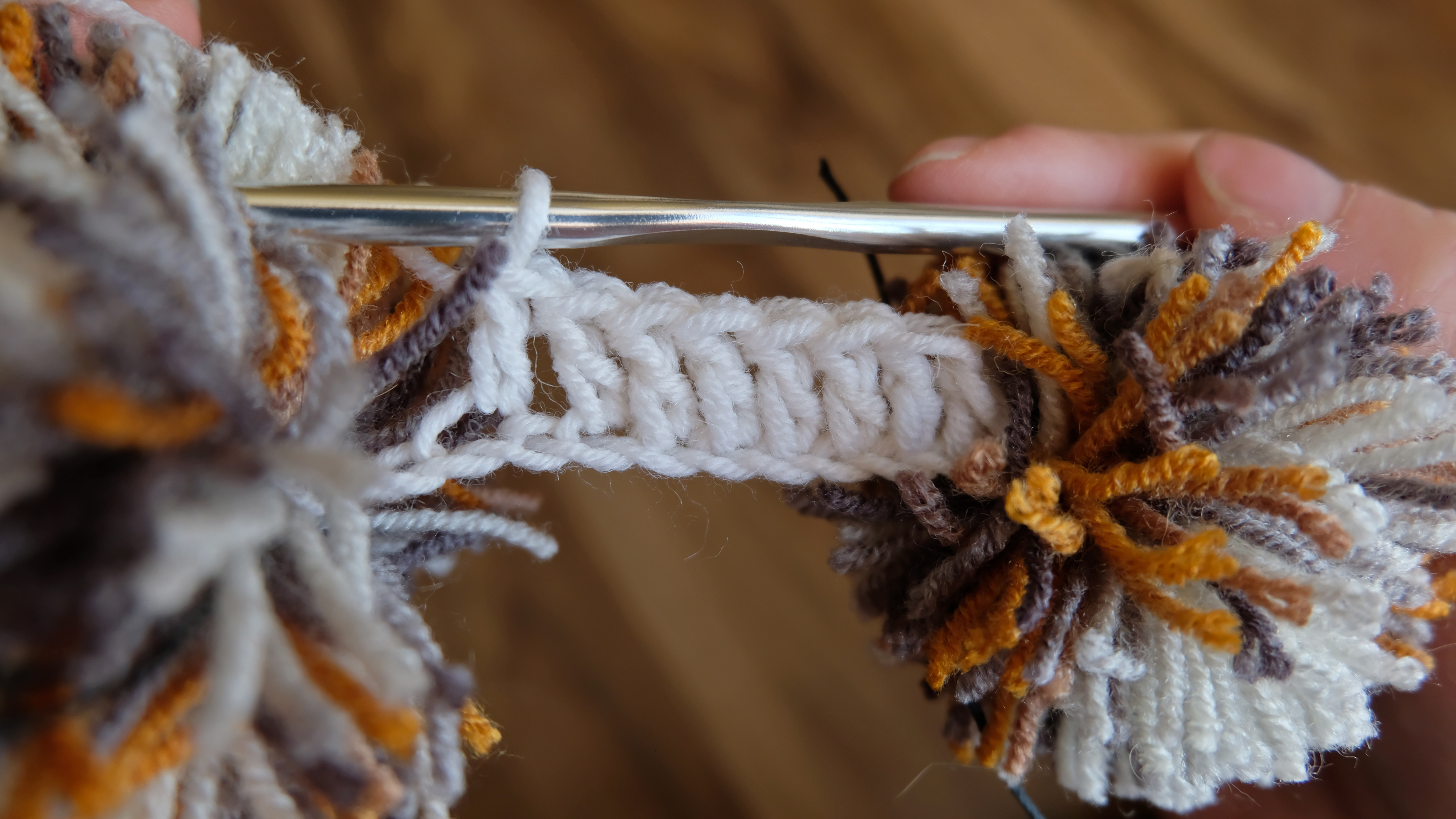 Picture of Crocheting. the Second and Third Rows